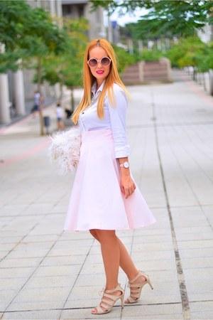 pink lyla loves necklace - light pink Front Row Shop bag