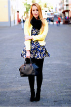 yellow Mart of China blazer - black Primark boots - navy nowIStyle dress