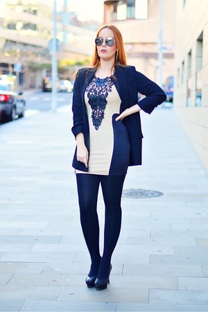 black Fashionmia dress - black Zara blazer