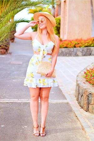 yellow Lovelywholesale skirt - yellow Lovelywholesale top