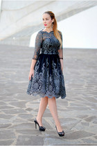 black Chi Chi dress - black Zara heels