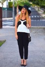 Black-h-m-hat-black-lymont-bag-black-mango-pants-black-zara-heels