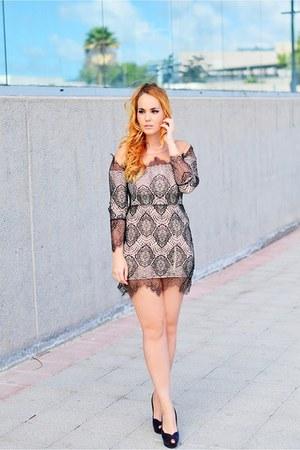 black Zara shoes - black Yoyomelody dress