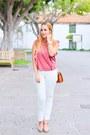 Tawny-mango-shoes-bronze-parfois-bag-white-mango-pants-pink-mango-blouse