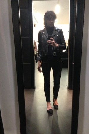 black Topshop jeans - black jacket