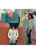 Mango purse - H&M cardigan - Stradivarius pants