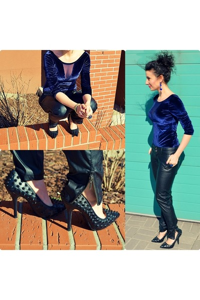 Stradivarius top - TJ Maxx pumps - Stradivarius pants - reserved ring