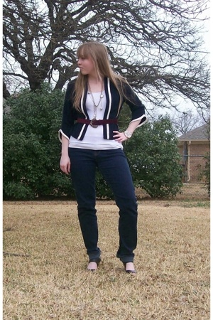 Texas Thrift blazer - Texas Thrift belt - forever 21 necklace - forever 21 brace