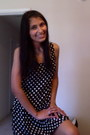 Black-pooka-dots-dress