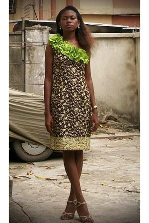 Marichi Mani shoes - chartreuse tailored dress
