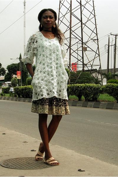 zaful necklace - unknown dress - ankara custom made skirt