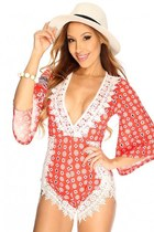 AmiClubWear romper - PINKBASIS romper - purse - chunky necklace necklace