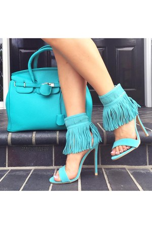 ami clubwear purse - Pink Basis dress - heels