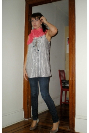H&M scarf - H&M blouse - jeans - Urban Outfitters shoes