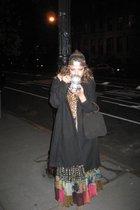 Target coat - Alberto Makali dress - vintage scarf - Express purse - calvin klei