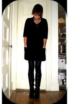 Alberto Makali dress - HUE tights - Anne Klein boots - gift from Dad necklace