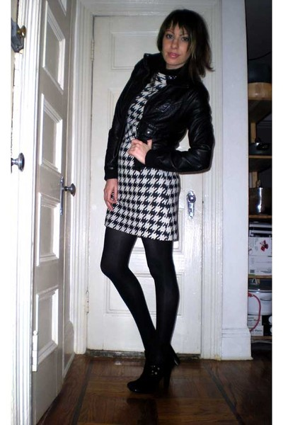 H&M jacket - Alberto Makali dress - Target top - HUE tights - BCBGgirls shoes