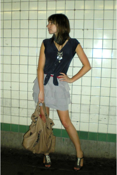 forever 21 blouse - Topshop skirt - Target belt - Target shoes - H&M accessories