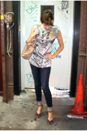 NY&CO blouse - Uniqlo jeans - Target shoes