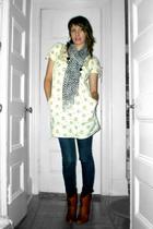 Kimchi&Blue dress - Uniqlo jeans - Old Navy scarf - Steve Madden boots