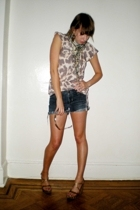 Target blouse - Gap shorts - Dolce and Gabbana shoes - sunglasses - thrift-store