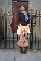 Forever 21 sweater - Market Publique skirt - H&M tights - Carlos Santana boots -