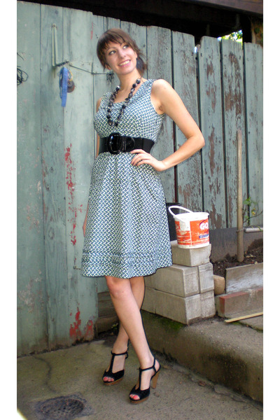 tory burch dress - NY and Co belt - Colin Stuart shoes - H&M necklace