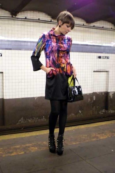 Alberto Makali dress - Thrift Store purse - Steve Madden shoes