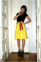 Target t-shirt - Express skirt - Thrift Store tie - Miss Sixty shoes