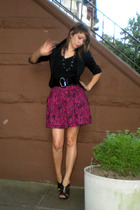H&M blazer - Target t-shirt - forever 21 skirt - Miss Sixty shoes - NY&Co belt -