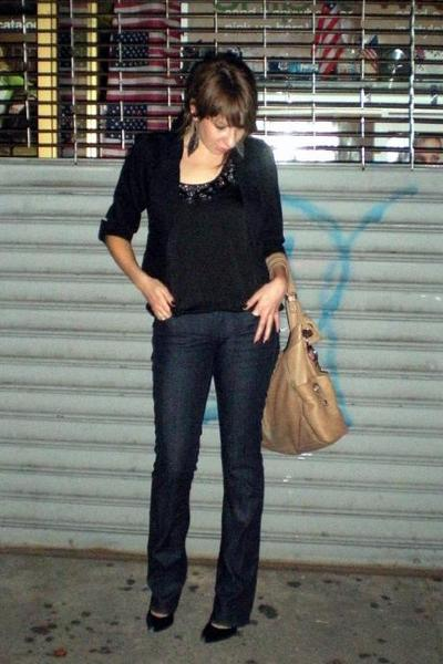 H&M blazer - Express blouse - Express jeans - Nine West shoes - H&M accessories