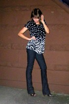 Urban Outfitters blouse - Express jeans - Miss Sixty shoes