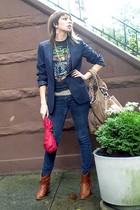 Target blazer - Thrift Store t-shirt - Thrift Store belt - Steve Madden boots -