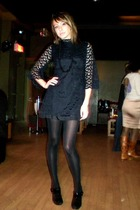 Thrift Store dress - HUE stockings - BCBGgirls shoes - Forever 21 necklace