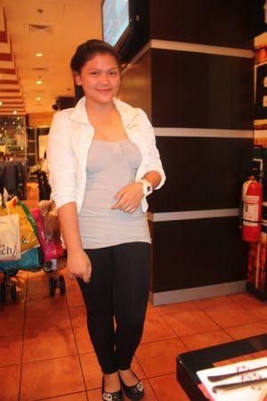 white Loveculturemultiplycom jacket - gray Loveculturemultiplycom top - black ol
