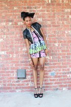 Betsey Johnson dress - Love Charlie J jacket - Forever 21 accessories