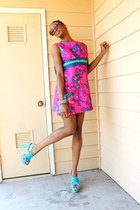 ThriftWare dress - Buffalo Exchange sunglasses - Target heels