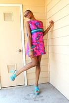 ThriftWare dress - Buffalo Exchange sunglasses - Target heels