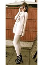 asos sunglasses - pussybow Matalan blouse - asos sandals