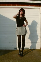 Topshop shorts - vintage sunglasses - Mums top - asos heels