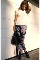 asos pants - Zara bag - Zara top