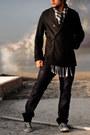 Coated-jeans-barbados-jeans-robert-lewis-coat-handmade-scarf