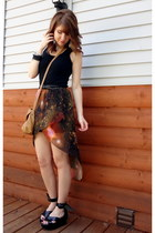 burnt orange galaxy print Romwecom skirt - tan Target bag
