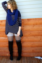 Payless boots - H&M sweater - Target tights - handmade scarf - H&M shorts - Targ