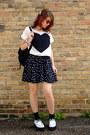 White-creepers-tuk-shoes-black-polka-dot-material-girl-dress