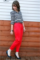black Target heels - white missoni for target blouse