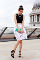 Oasapcom skirt - Moschino top - Miu Miu heels