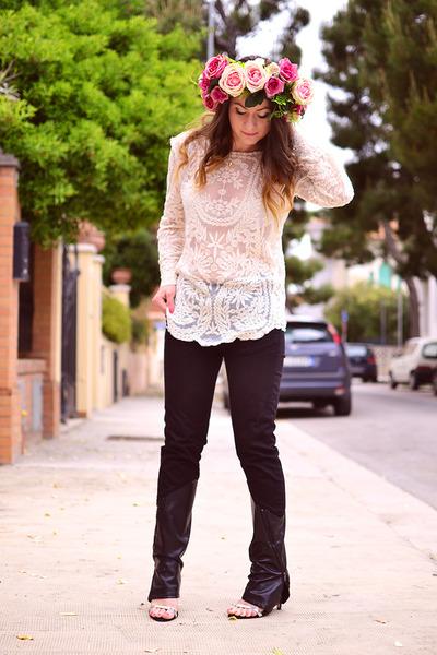 Sheinside blouse - DIY hair accessory