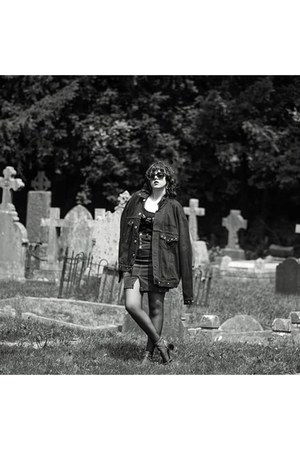 black denin reworked by nicolle evans jacket