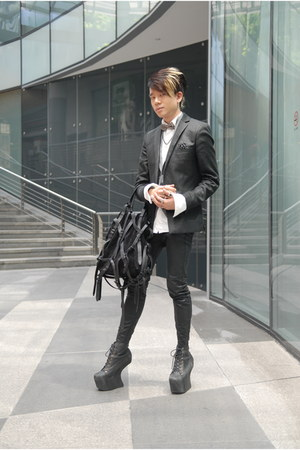night lita Jeffrey Campbell shoes - Topman AAA blazer - winged collar Zara shirt